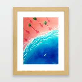 Kay-atching Waves Framed Art Print
