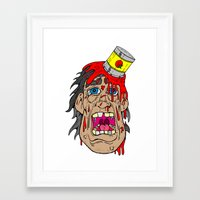 gore Framed Art Prints featuring gore by toonz