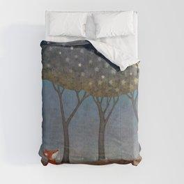 sleepy foxes Comforters