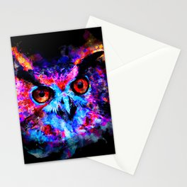 owl purple blue perfect Stationery Cards