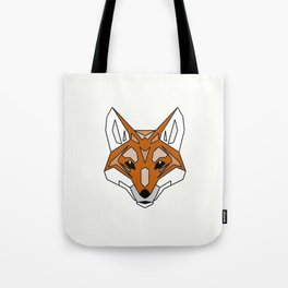 Geometric Fox - Abstract, Animal Design Tote Bag