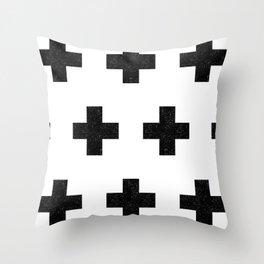 plus_quilt Throw Pillow