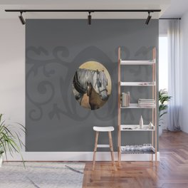 Plow Horse and Foal Wall Mural
