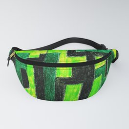 Three Green Puzzle Fanny Pack