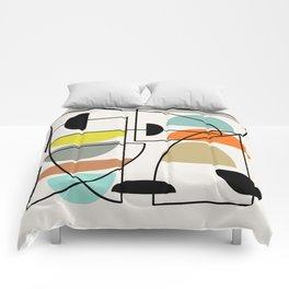 "Mid Century Modern ""Bowls"" Comforters"