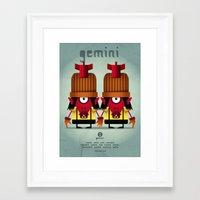 gemini Framed Art Prints featuring GEMINI by Angelo Cerantola