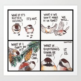 Bird no. 320: Worrier Art Print