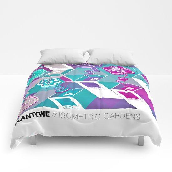 PLANTONE // Isometric Gardens Comforters