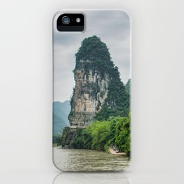 Karst formation on the Li River Guilin, China iPhone Case