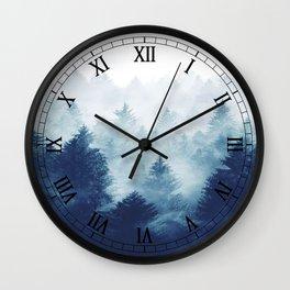 Foggy Woods I Wall Clock