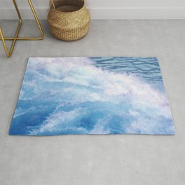 Wild waves Rug
