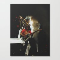 rock and roll Canvas Prints featuring Rock & Roll by Molly Miller