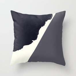 Contemporary Minimalistic Black and White Art Throw Pillow