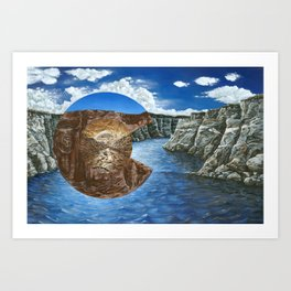 Colorado Flag Polyscape Art Print