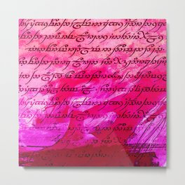 Pink Elvish Metal Print