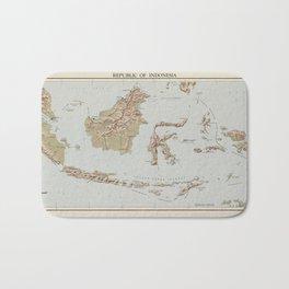 Republic of Indonesia Map (1957) Bath Mat