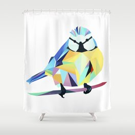 Benni Blaumeise - Benni Blue Tit Shower Curtain