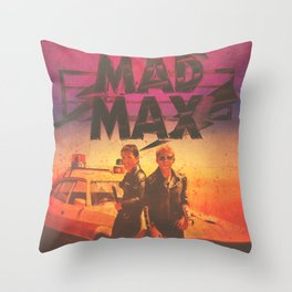 Mad Max Custom Vintage Poster Throw Pillow