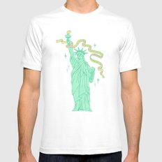 Liberty MEDIUM Mens Fitted Tee White