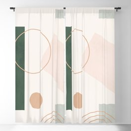 Minimal Geometric 87 Blackout Curtain