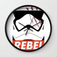 rebel Wall Clocks featuring REBEL by Bertoni Lee