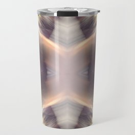 Abstract Feathered Print Travel Mug