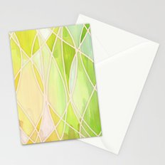 Lemon & Lime Love - abstract painting in yellow & green Stationery Cards