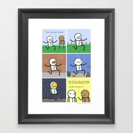 Antics #110 - very straight priorities Framed Art Print