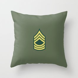 Master Sergeant (OD Green) Throw Pillow