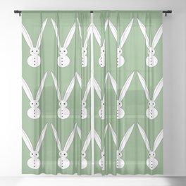 Snow bunnies Sheer Curtain