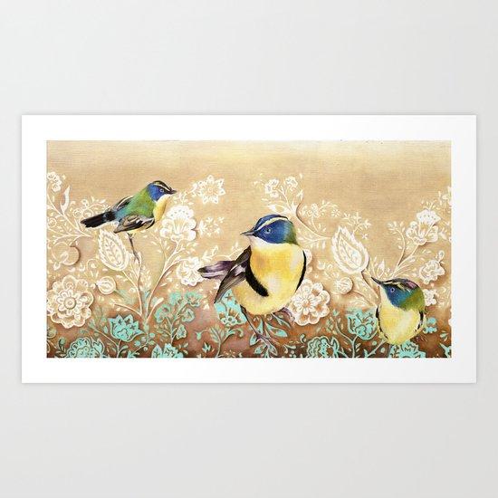 Siete Colores Art Print