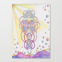 lungs Canvas Prints featuring Lungs by Art by Ellen