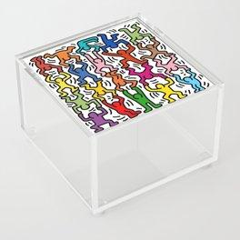 Homage to Keith Haring Acrobats II Acrylic Box