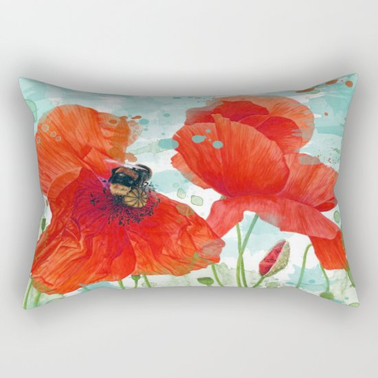 Poppies 02 Rectangular Pillow
