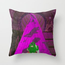 River of Slime Throw Pillow