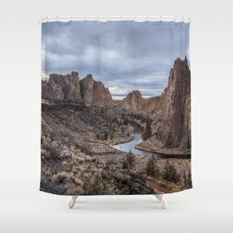 Twilight at Smith Rock State Park Shower Curtain