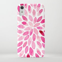 Watercolor brush strokes - pink iPhone Case