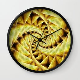 Smoky spiral stairs to floral centre Wall Clock