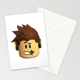 roblox face kids Stationery Cards
