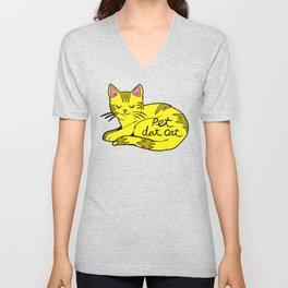 Pet Dat Cat Unisex V-Neck