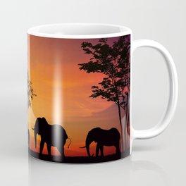 African Elephants on the Serengeti Plains Coffee Mug
