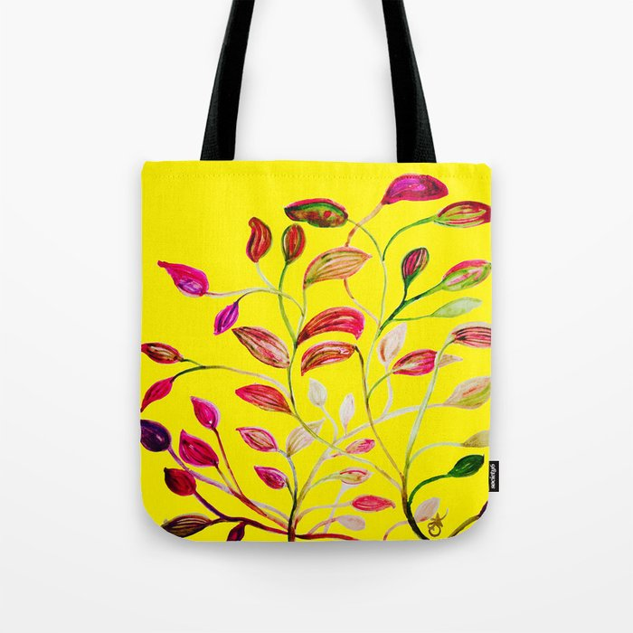 Red and Green Leaves! Yellow Sunshine! Tote Bag