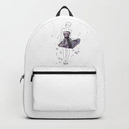 Girl in purple Backpack
