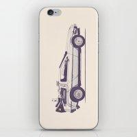 delorean iPhone & iPod Skins featuring Famous Car #2 - Delorean by Florent Bodart / Speakerine