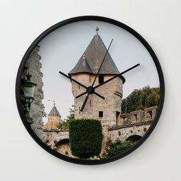 Little romantic castle in Maastricht, the Netherlands, Europe   Travel photography   art photo print Wall Clock