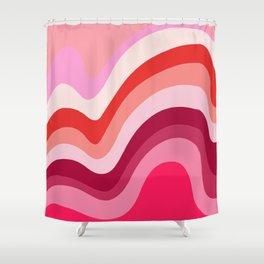 Retro Waves 4 Shower Curtain
