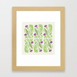 Thistles - Color PAttern Framed Art Print