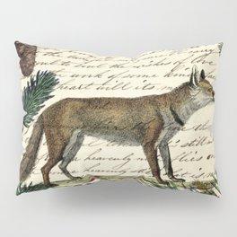 western country fairy rustic woodland nursery winter pine forest animal fox Pillow Sham