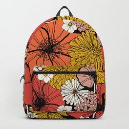Big Retro Blooms Backpack
