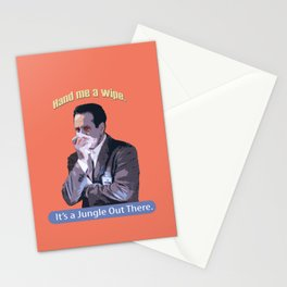 Hand me a Wipe_It's a Jungle Out There_Andrian Monk. Stationery Cards